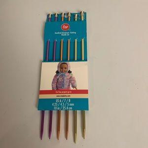 Boye Knitting Needle Set Aluminum Sizes 6,7, 8